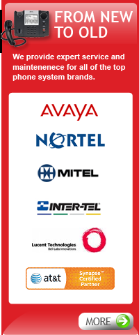 Phone System Brands Inter-tel,Avaya, Nortel, Mitel, AT&T, Lucent Technologies